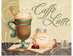 Joy Hall Premium Thick-Wrap Canvas Wall Art Print entitled Coffee - Caffe Latte, None Coffee Iv, Coffee Cafe, Best Coffee, Coffee Break, Coffee Shop, Coffee Mugs, Coffee Company, Starbucks Coffee, Black Coffee