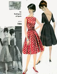 Vintage 60s Sewing Pattern Vogue COUTURIER Design 1186