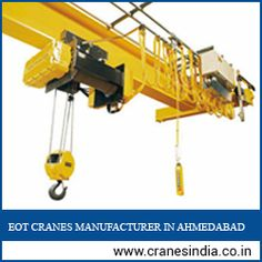 We are one of the one top manufacturer company of eot cranes and hot cranes in Ahmedabad, India. Electric Wire Rope Hoists, EOT Crane, HOT Cranesand Power Winches etc.