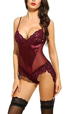 Special Offer: $12.99 amazon.com Material: Lace and MeshDeep V neck,adjustable strap,mesh patchwork,make you more sexy and charming ,surprise your lover !Receive 1 sexy lingerie babydoll dress free when you purchase 1 or more Qualifying items offered by SweetNight,refer to the direction on...