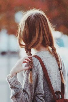Cute double braid for back to school hairstyle idea