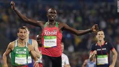 Kenya's David Rudisha defends his Olympic title in the 800 meters on…