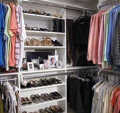 inspiration for master closet organization