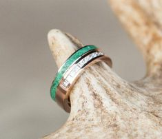 Women's Gold Wedding Band - Custom Soldered Ring Featuring Malachite and Diamonds - Staghead Designs Gold Diamond Wedding Band, Rose Gold Engagement Ring, Gold Wedding, Solitaire Engagement, Dream Wedding, Nontraditional Engagement Rings, Engagement Ring Buying Guide, Custom Wedding Rings, Wedding Jewelry