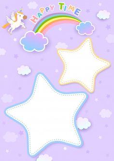 Arcoiris lloviendo estrella | Descargar Vectores Premium Rainbow Wallpaper, Kids Wallpaper, Frame Template, Templates, Paw Patrol Party Invitations, Baby Record Book, Rose Gold Texture, Chore Chart Kids, Cute Frames