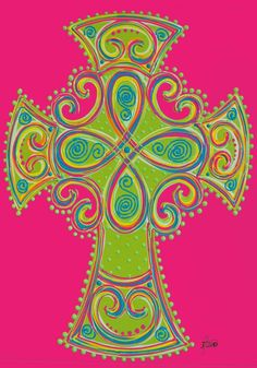 IAmEricas Flags - Hot Pink and Lime Green Celtic Cross Garden Flag, $14.00 (http://www.iamericasflags.com/products/hot-pink-and-lime-green-celtic-cross-garden-flag.html)
