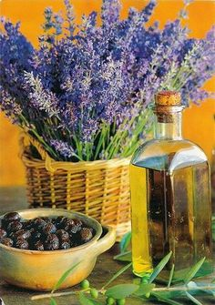 Lavender, olives, and olive oil