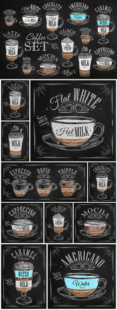 Set Coffee by Anna on @creativemarket