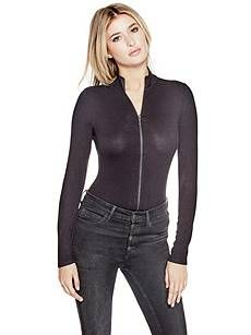 Cassandra Zip-Up Bodysuit | GUESS.com