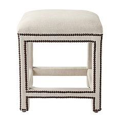 nailhead stool - comes in over 100 fabrics