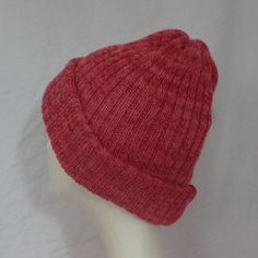 Pink Double Layered Hat - Icelandic Production by HuldaGK on Etsy