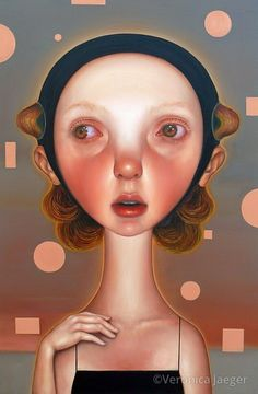12 Weather Balloons 2015 by Veronica Jaeger Weather Balloon, 12 Weather, Pop Surrealism, Face Oil, Girl Face, Time Travel, Veronica, Oil On Canvas, Contemporary Art
