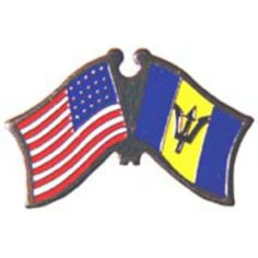 "American & Barbados Flags Pin 1"" by FindingKing. $8.50. This is a new American & Barbados Flags Pin 1"""