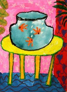 Matisse-inspired goldfish.Artwork by stephanie3257