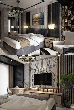 Home Interior Salas .Home Interior Salas Luxury Bedroom Design, Hotel Room Design, Master Bedroom Interior, Bedroom Bed Design, Luxury Interior Design, Home Interior, Home Decor Bedroom, Modern Luxury Bedroom, Dispositions Chambre