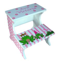 Custom Childrens Wooden Step Stool