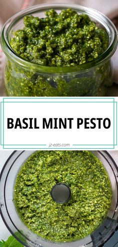 Fresh homemade pesto is way better than store bought pesto, but this Basil Mint Pesto recipe is one that'll get people talking! #mintpesto #pesto #pestorecipe Fun Easy Recipes, Real Food Recipes, Vegan Recipes, Easy Meals, Cooking Recipes, Popular Recipes, Weeknight Meals, Cake Recipes, Mint Pesto Recipe