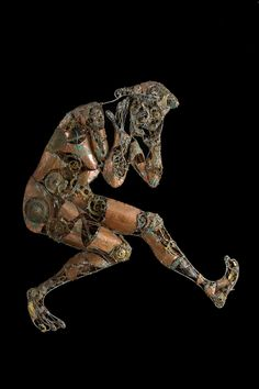 #Painful #thoughts - (2000) 150x120 - made with #copper, #bronze and #brass #sculpture #contemporary #art