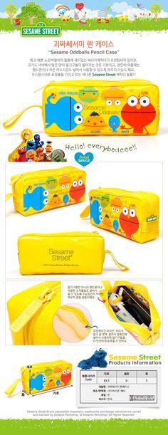 Sesame Oddballs Round Pencil Case