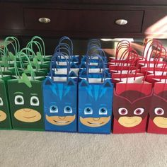 Tina Napier added a photo of their purchase. These are our customer, Tina Napier's assembled PJ Masks Party Goody Bags she made with our Printable templates!! PJ Masks Birthday Party Ideas/ PJ Masks Party Favor Bags/ PJ Masks Party decorations/ treat bags/ candy bags/ gift bags/ goodie bags.