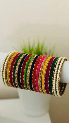 Thread Bangles, Gold Bangles Design, Bridal Bangles, Bracelets, Jewelry, Collection, Jewlery, Jewerly, Schmuck