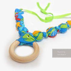 Nursing Necklace  Teething Necklace  Amazing gift for a baby shower, a mom-to-be, or a new mom !!    by NyUrbanAccessories on Etsy