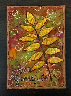 #lovefallart Mixed Media Fall Canvas using Gelli® Prints