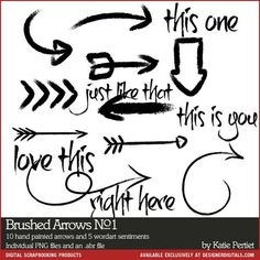 Brushed Arrows Brushes and Stamps No. 01 K Pertiet at Designer Digitals I love Katie's brushes!