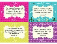 Bahai childrens class printable set of 24 quote flash memory printable bahai childrens class set of 24 by safaristadesign fandeluxe Choice Image