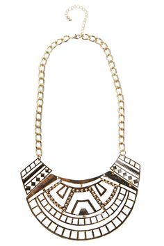 Mia Cut Out Tribal Necklace