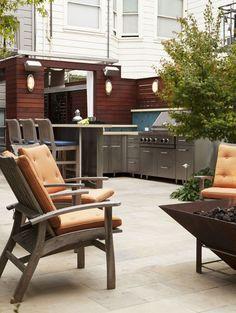 City Update by Arterra LLP Landscape Architects  Michelle Lee Wilson Photography  Urban patio garden with outdoor kitchen