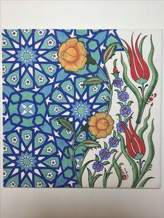 Güzel Tile Patterns, Pattern Art, Pattern Design, Turkish Pattern, Islamic Art Pattern, Turkish Art, Tile Art, Geometric Art, Indian Art