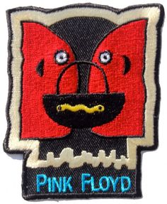Official Pink Floyd Iron-on Patch measuring approx 80mm x 65mm featuring the Division Bell cut-out design US Import C D Visionary Inc Officially