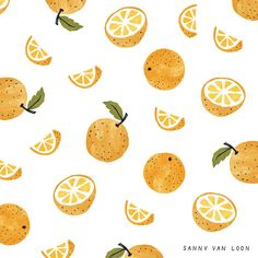 Orange pattern by Sanny van Loon • Illustration