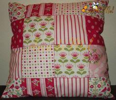 Patchwork pillow (Tilda)