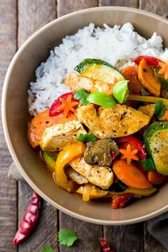 Thai Chicken Curry with Coconut Milk - A fast and easy recipe loaded with exotic flavors and healthy vegetables that you can enjoy any day of the week. | jessicagavin.com