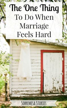 When marriage feels hard, this one thing can make all the difference. Great marriage advice here!