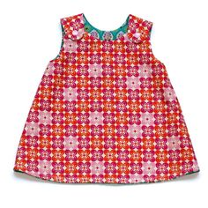 Reversible dress(retro flowers) 3-6 months