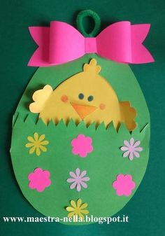 Easter handicraft ideas with patterns - Crafts with children Easter Arts And Crafts, Egg Crafts, Easter Projects, Easter Crafts For Kids, Toddler Crafts, Spring Crafts, Holiday Crafts, Diy And Crafts, Paper Crafts