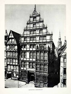 1952 Rotogravure Hanover Germany Leibnizhaus Architecture Renaissance XGIC3