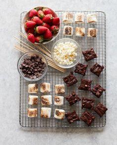 Strawberry Brownie Skewers - Cupcakes