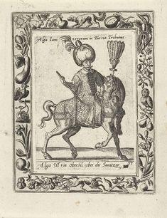 Leider van de Janitsaren te paard, attributed to Abraham de Bruyn, 1577