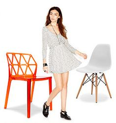 Chaise DSW Charles Eames Style - Polypropylène Matt pas cher