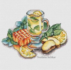 Ginger Tea by sa-pattern.com, PDF chart