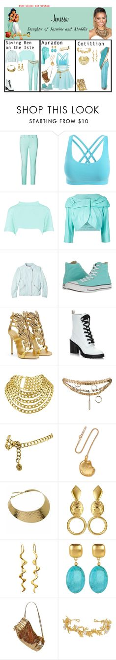 """""""Jenessa. Daughter of Jasmine and Aladdin. Descendants 2"""" by elmoakepoke ❤ liked on Polyvore featuring Ralph Lauren, Boohoo, Rebecca Taylor, Converse, Giuseppe Zanotti, Marc Jacobs, Chanel, Chloé, Alighieri and Kenneth Jay Lane"""