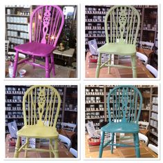 Heliotrope, lime, English yellow and antique turquoise = gorgeous brights