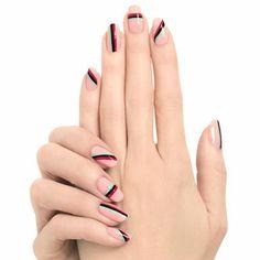 Stripey nail art
