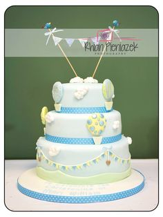 Christening cake for a baby boy. Christening, Bespoke, Baby Boy, Cakes, Drinks, Desserts, Photography, Food, Taylormade