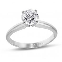 PassionStone Collection, 14k White Gold Round SI2 Diamond Wedding Band, 1/7 ctw