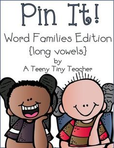 Pin It! Word Families Edition {long vowels} Reading activities for students that are phonics based.